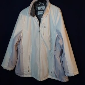 Zeroxposur white jacket quilted lining 3X